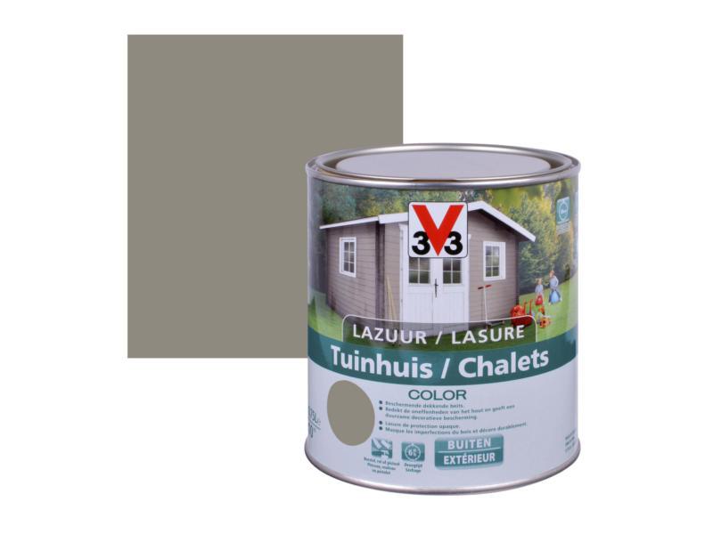 V33 Color houtbeits tuinhuis zijdeglans 0,75l bizon