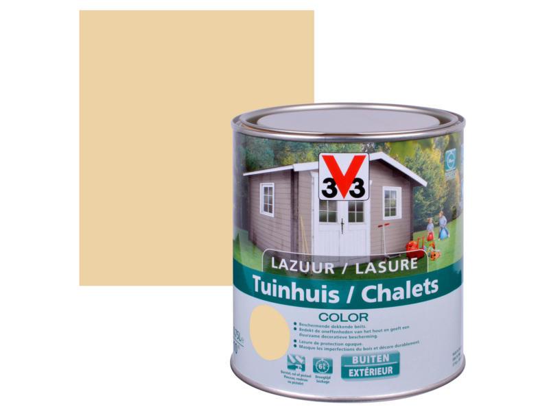 V33 Color houtbeits tuinhuis zijdeglans 0,75l desert
