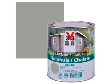 V33 Color houtbeits tuinhuis zijdeglans 0,75l moonstone