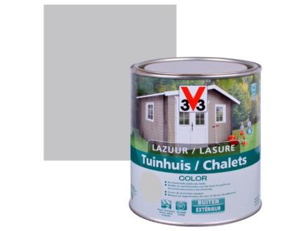 V33 Color houtbeits tuinhuis zijdeglans 0,75l pure everest