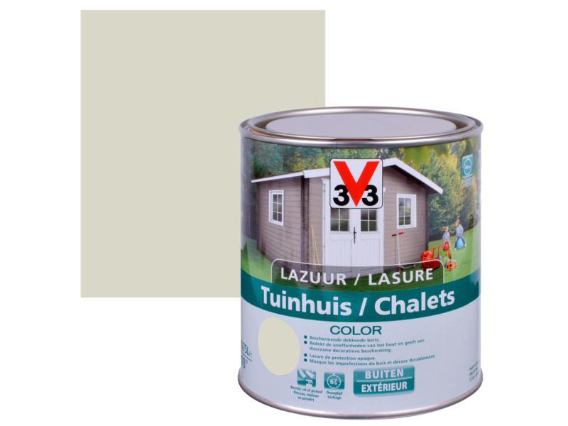 V33 Color houtbeits tuinhuis zijdeglans 0,75l salar grey