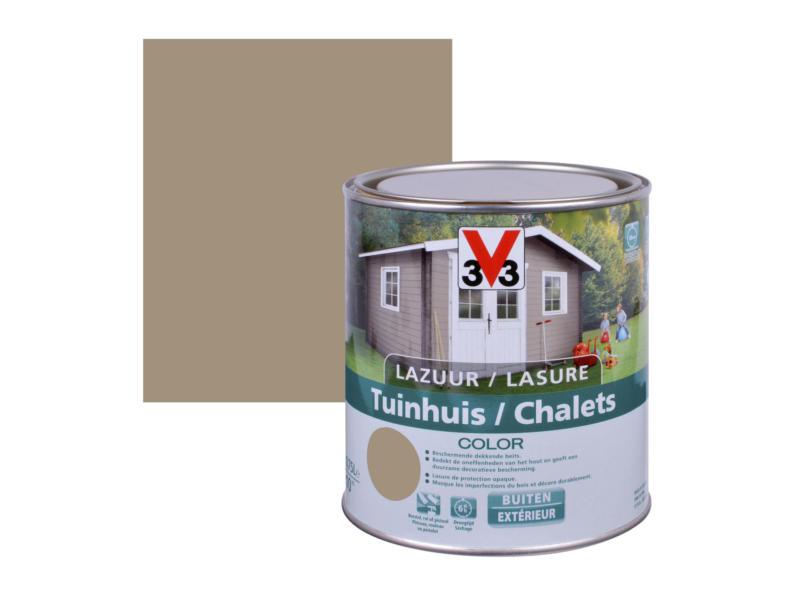 V33 Color houtbeits tuinhuis zijdeglans 0,75l sandstone