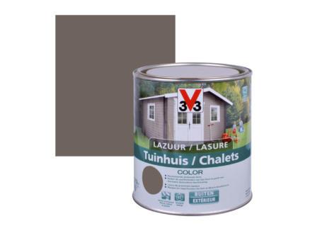 V33 Color houtbeits tuinhuis zijdeglans 0,75l walnut