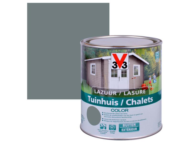 V33 Color houtbeits tuinhuis zijdeglans 0,75l windstorm