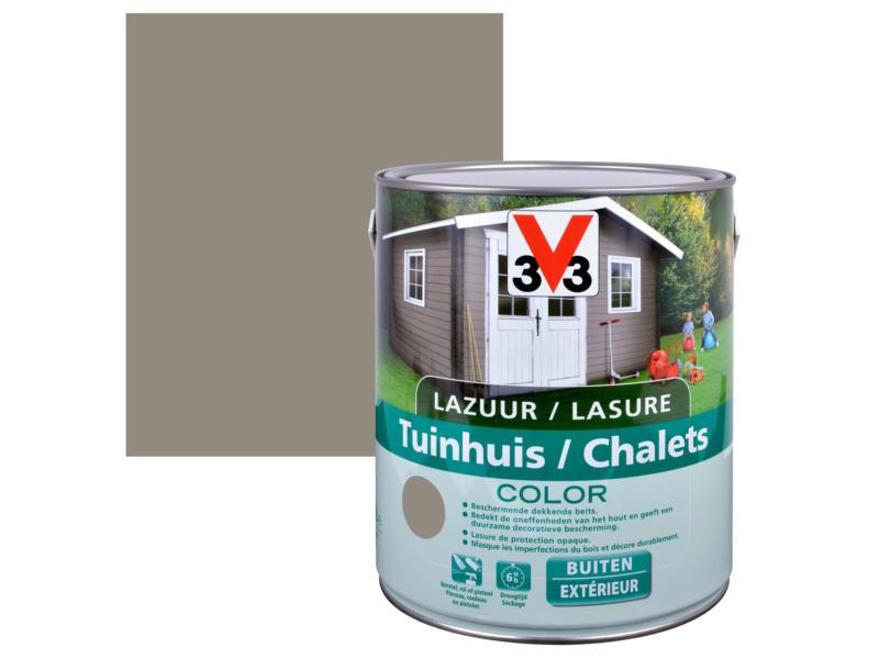 V33 Color houtbeits tuinhuis zijdeglans 2,5l bizon