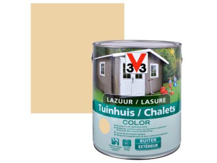 V33 Color houtbeits tuinhuis zijdeglans 2,5l desert