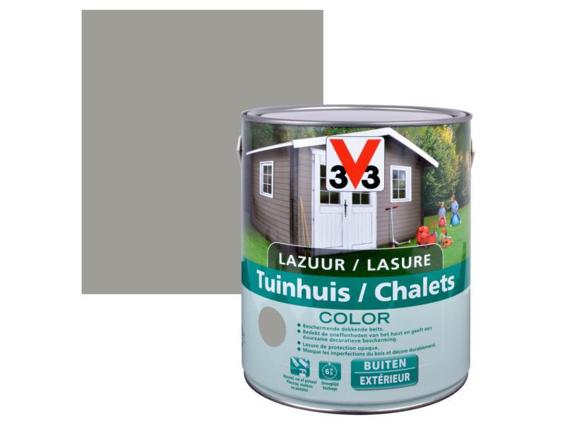 V33 Color houtbeits tuinhuis zijdeglans 2,5l moonstone