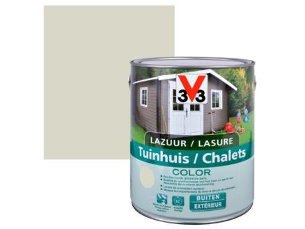 V33 Color houtbeits tuinhuis zijdeglans 2,5l salar grey