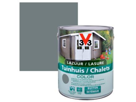 V33 Color houtbeits tuinhuis zijdeglans 2,5l windstorm