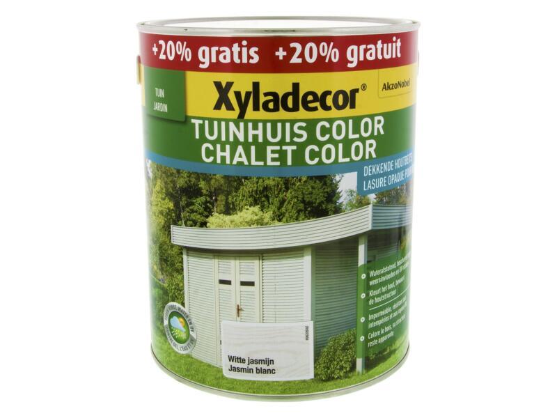 Xyladecor Color lasure bois chalet 2,5l + 0,5l jasmin blanc