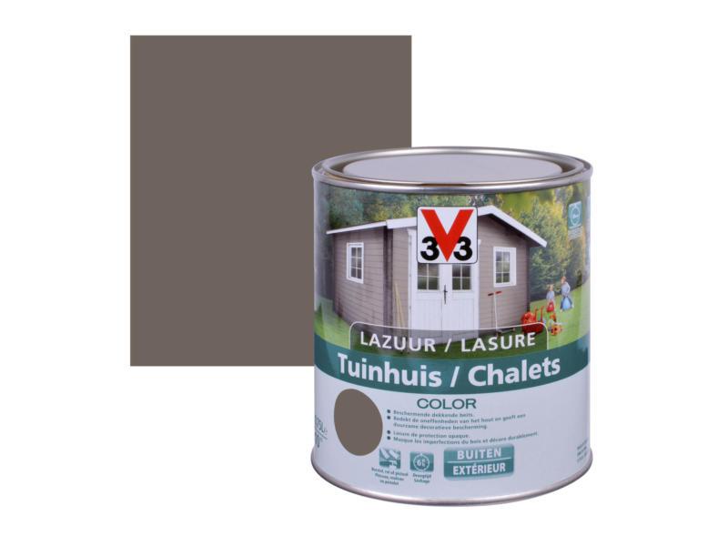 V33 Color lasure bois chalet satin 0,75l walnut