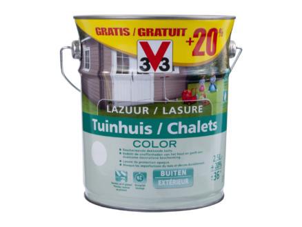 V33 Color lasure chalet 2,5l+20% bizon