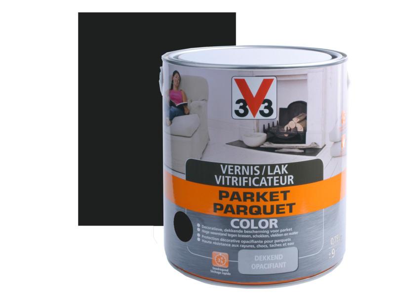 V33 Color vernis / lak parket zijdeglans 0,75l zwart
