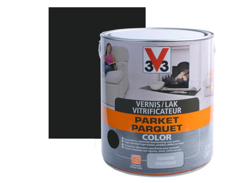 V33 Color vernis / lak parket zijdeglans 2,5l zwart