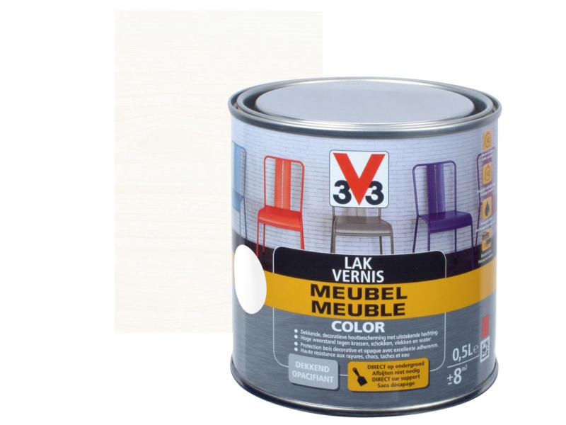 V33 Color vernis / laque meuble satin 0,5l blanc
