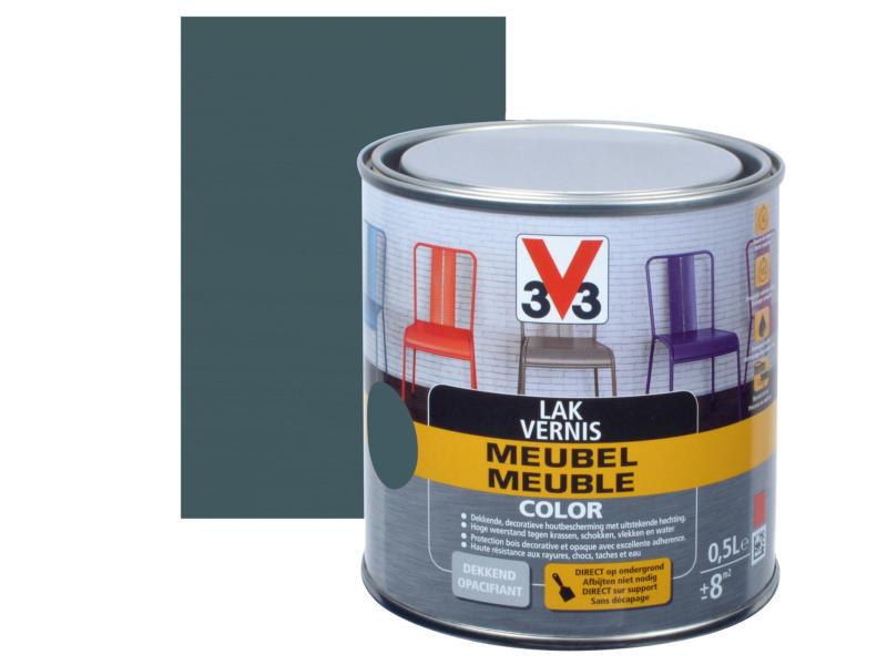 V33 Color vernis / laque meuble satin 0,5l gris foncé