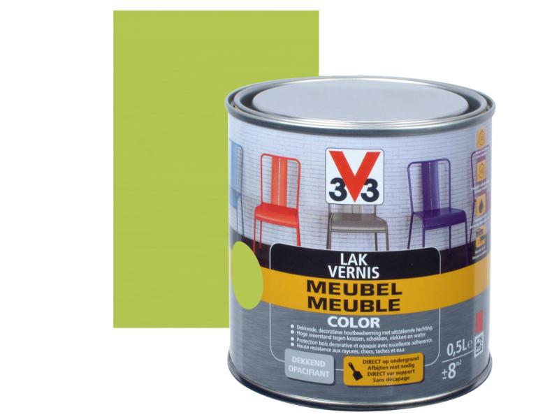 V33 Color vernis / laque meuble satin 0,5l pomme