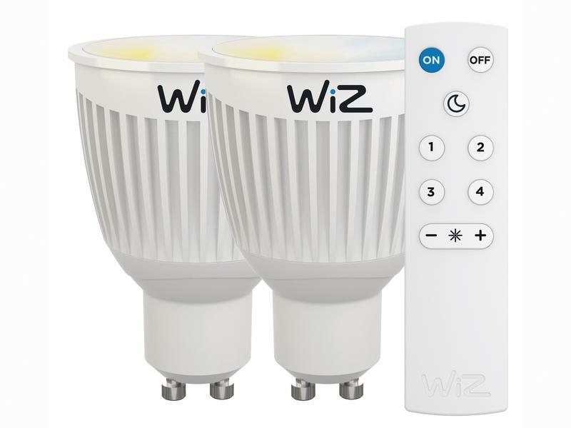 Wiz Colours Spot LED réflecteur GU10 6,5W 2 pièces + télécommande