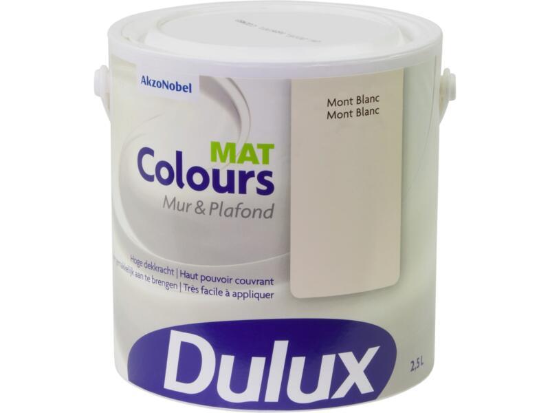 Dulux Colours muur- en plafondverf mat 2,5l Mont Blanc