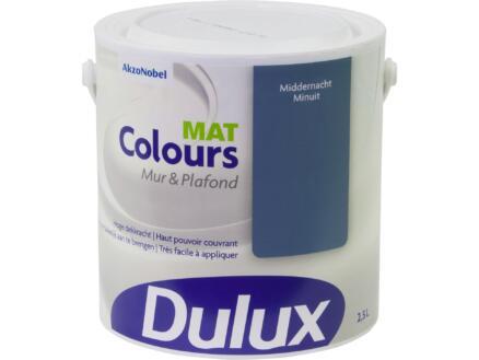 Dulux Colours muur- en plafondverf mat 2,5l middernacht