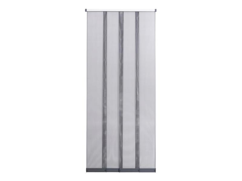 CanDo Comfort rideau moustiquaire à lamelles coulissant 120x260 cm grijs