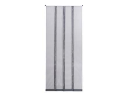 CanDo Comfort vliegengordijn met verschuifbare lamellen 120x260 cm grijs