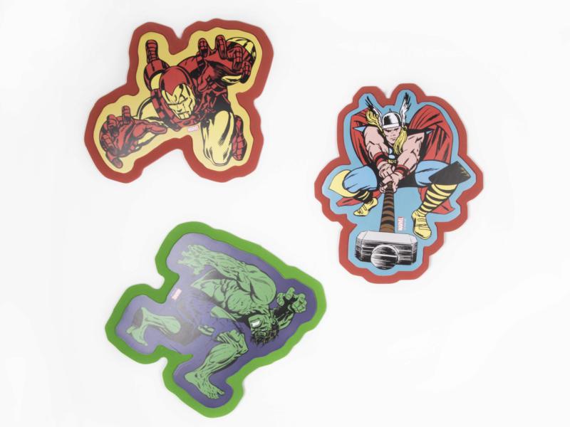 Comics superhelden muurstickers foam 3 stuks