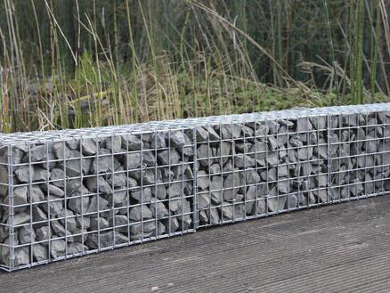 Giardino Como gabion 120x20x30 cm avec 140 crampons
