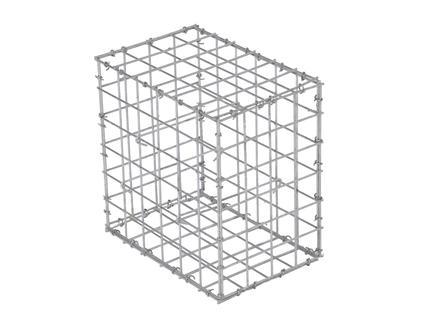 Giardino Como gabion 30x20x30 cm avec 70 crampons
