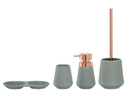 Sealskin Conical WC-borstel met houder vrijstaand porselein groen