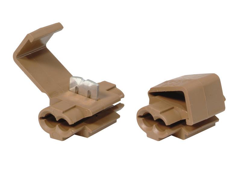 Profile Connector 1,5mm-2,5mm bruin 10 stuks