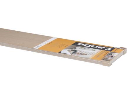 CanDo Contremarche chêne 130x20 cm blanc 5 pièces