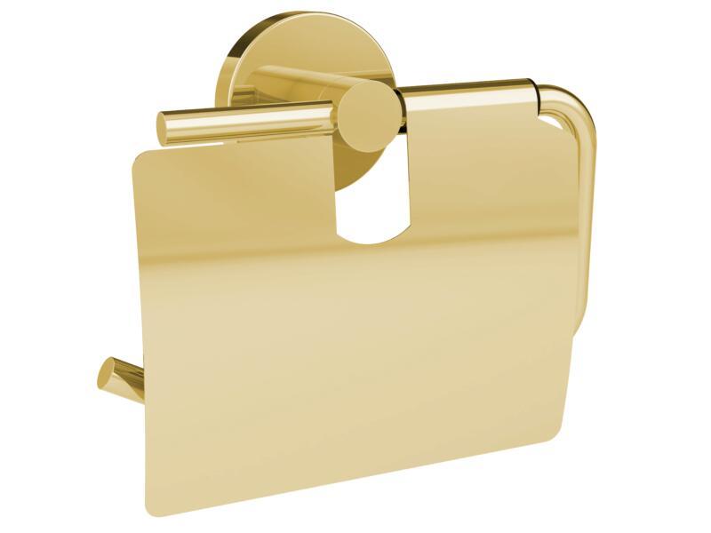 Allibert Coperblink porte-papier toilette avec couvercle or brillant