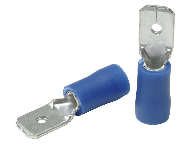 Profile Cosse électrique mâle 1,0-2,6 mm 10 pièces bleu