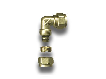 Saninstal Coude 90° 16x16 mm