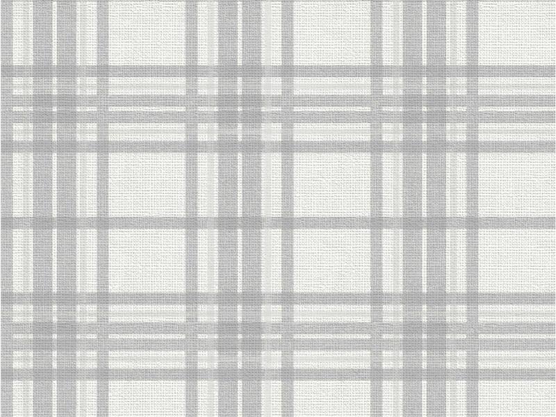Country Tartan papier peint intissé 52cm 10,05m argent