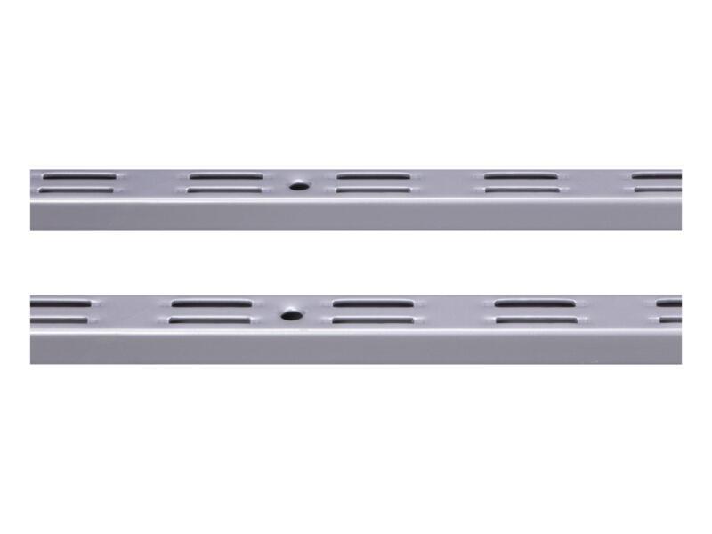 Crémaillère double 200cm aluminium 2 pièces