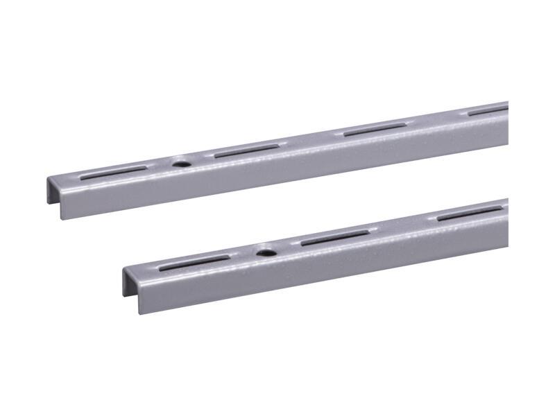 Crémaillère simple 100cm aluminium 2 pièces