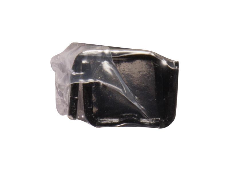 Cremaillère simple 150cm noir 2 pièces