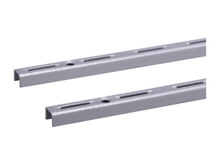 Crémaillère simple 50cm aluminium 2 pièces