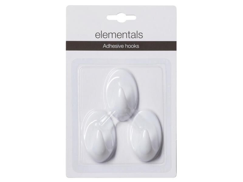 Sealskin Crochet ventouse Elementals Basic blanc 3 pièces