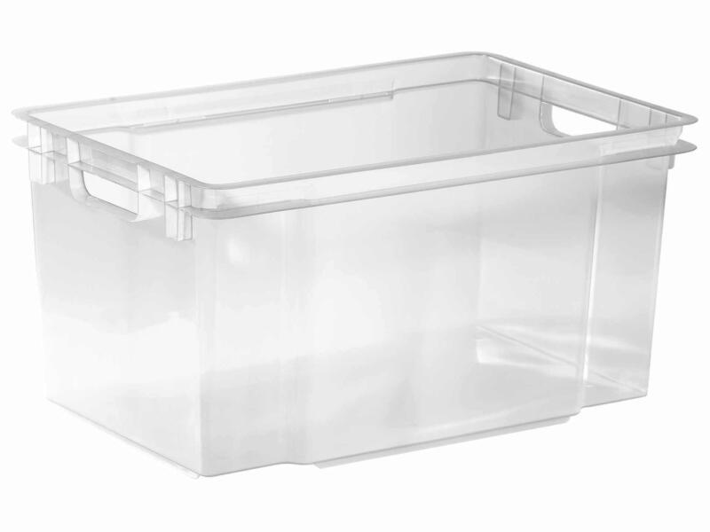 Keter Crownest bac de rangement 50l transparent