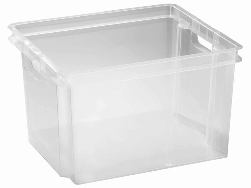 Keter Crownest opbergbox 30l transparant