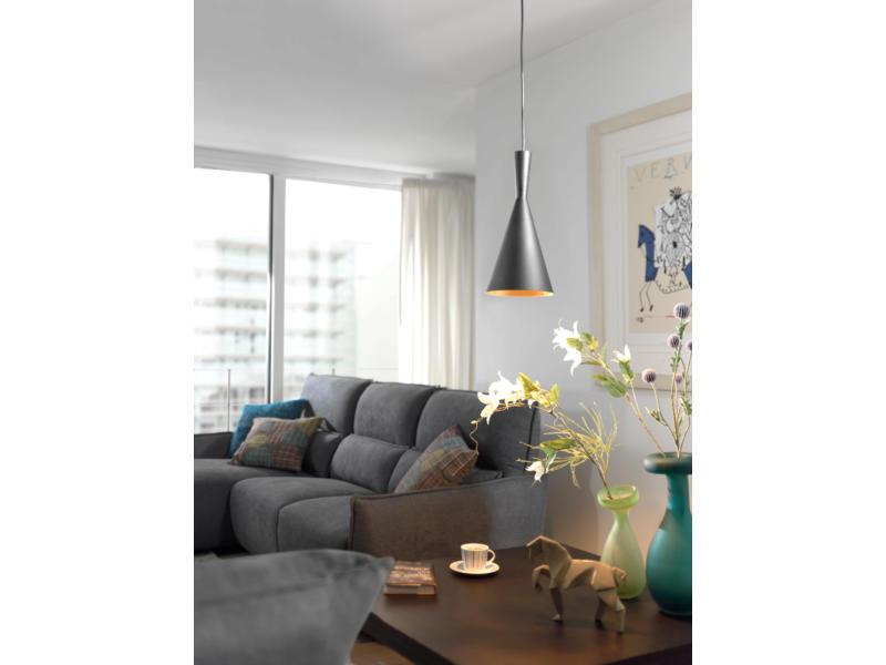 MEO Dalmine hanglamp E27 60W zwart
