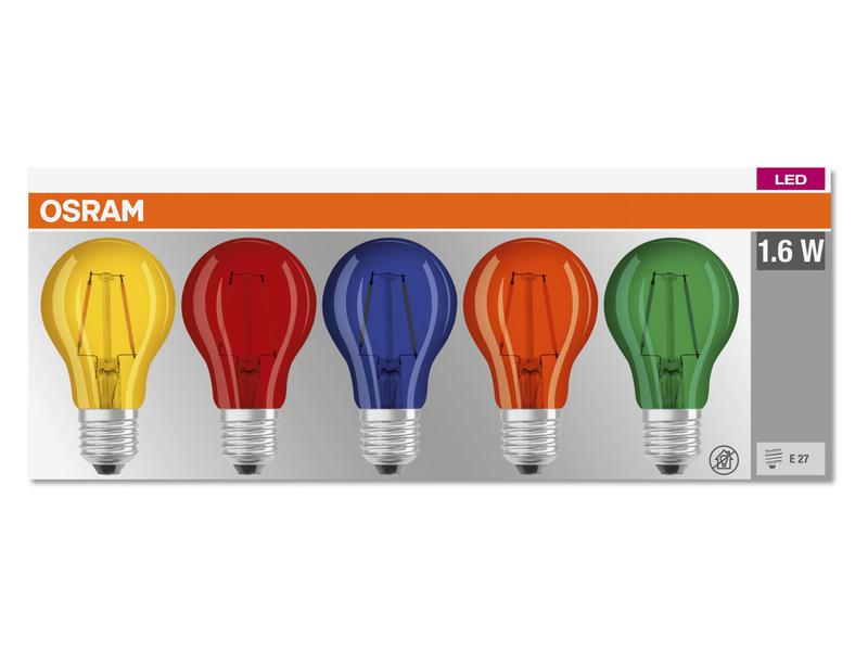 Osram Deco Star Classic 15 LED peerlamp filament E27 2W 5 stuks