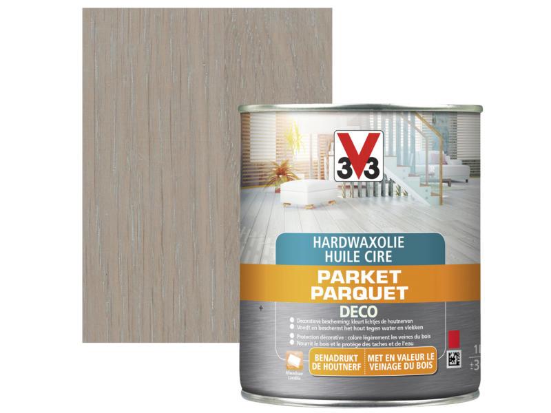 V33 Deco huile cire parquet mat 2,5l gris foncé