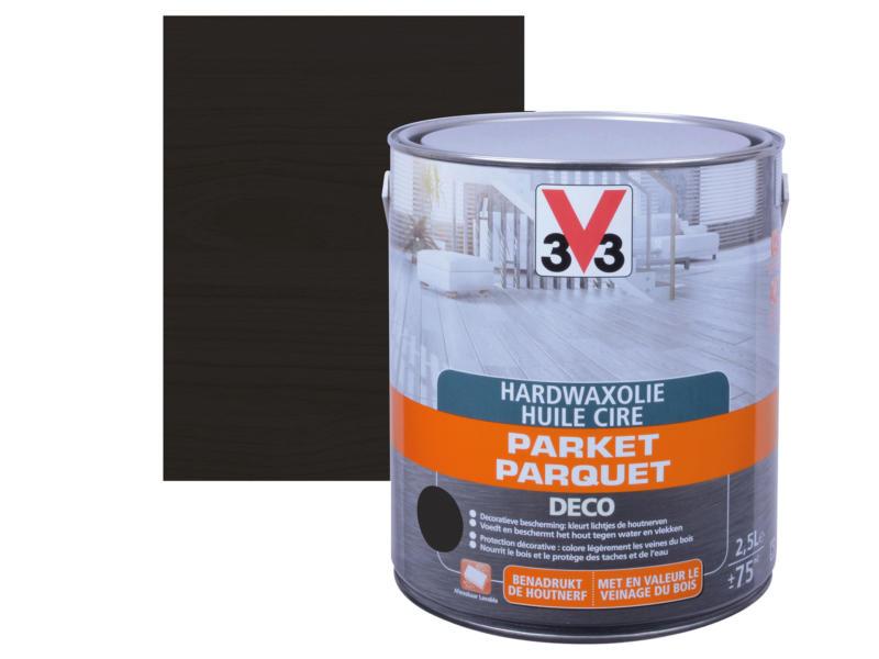 V33 Deco huile cire parquet mat 2,5l noir