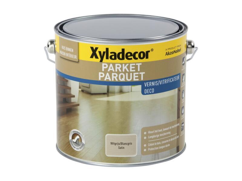 Xyladecor Deco parketvernis zijdeglans 2,5l witgrijs