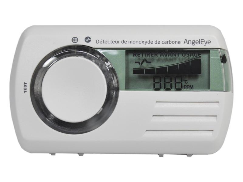Détecteur de CO à écran LCD blanc