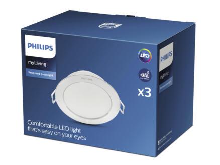 Philips Diamond LED inbouwspot 3x3,5 W wit